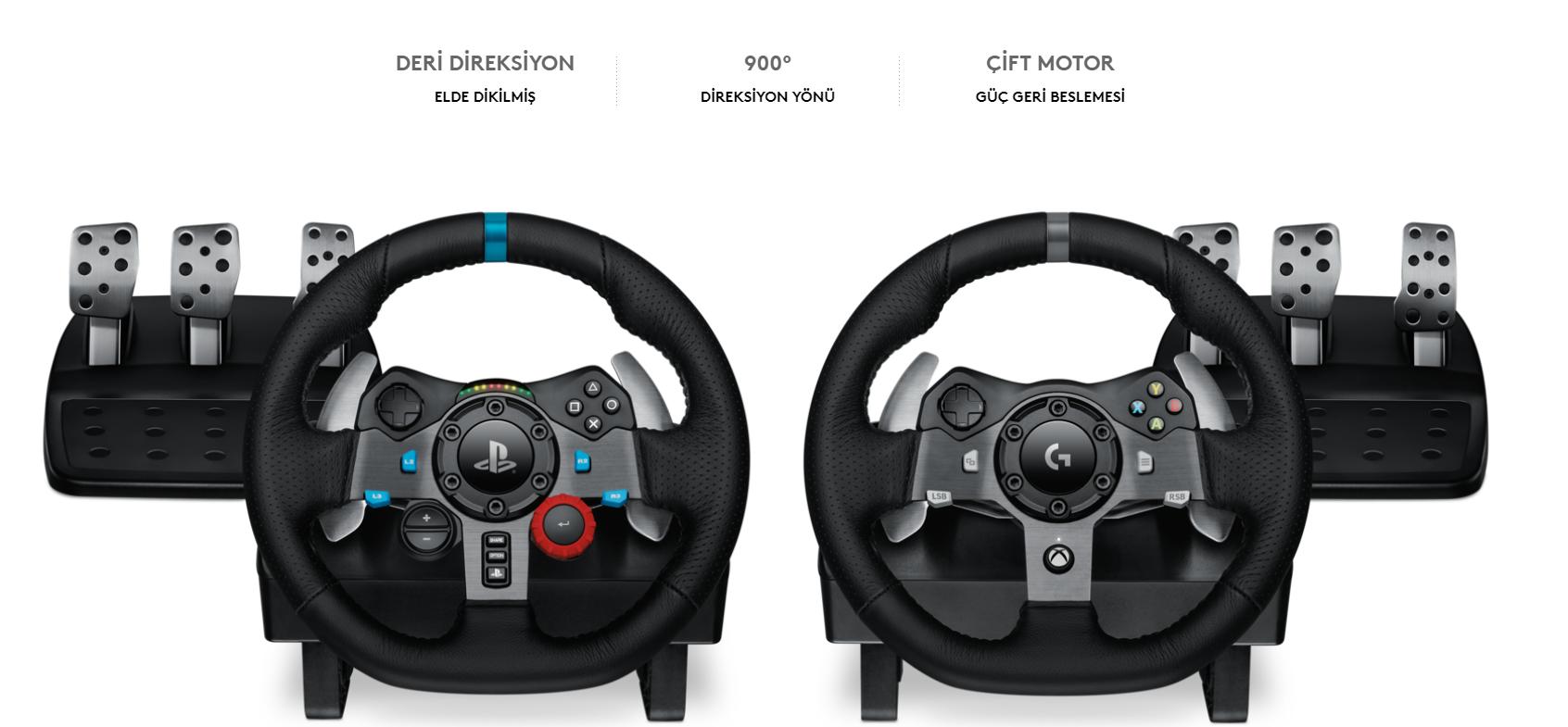 34adcb0ec6f Kusursuz sürüş deneyimi için üretilen Logitech G Driving Force, en yeni  yarış oyunlarını en yüksek düzeye taşıyor. Süper aracınızın direksiyonuna  ...